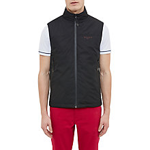 Buy Ted Baker Golf Rumble Shower-Resistant Gilet, Black Online at johnlewis.com