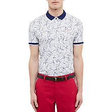 Buy Ted Baker Golf Slice Golf Club Print Polo Shirt Online at johnlewis.com