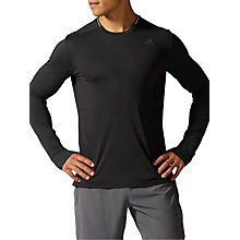 Buy Adidas Supernova Long Sleeve Running T-Shirt, Black Online at johnlewis.com