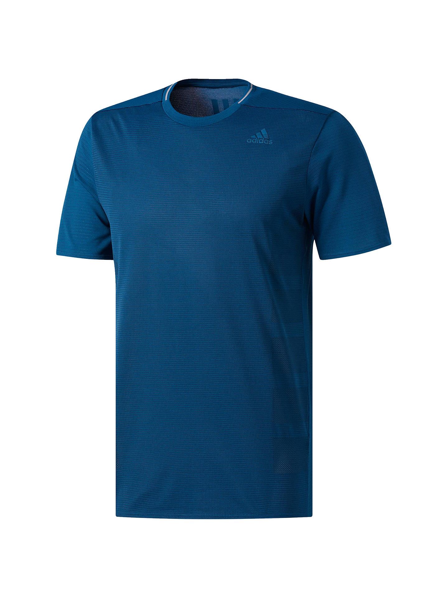 003154c6 ... Buy adidas Supernova Short Sleeve Running T-Shirt, Navy, S Online at  johnlewis ...