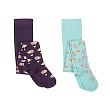 Buy John Lewis Girls' Woodland Tights, Pack of 2, Multi Online at johnlewis.com