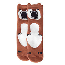 Buy John Lewis Children's Terry Bear Slipper Socks, Brown Online at johnlewis.com