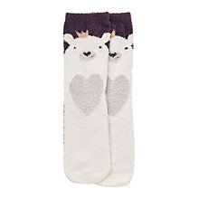Buy John Lewis Children's Polar Bear Slipper Socks, Multi Online at johnlewis.com