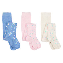 Buy John Lewis Girls' Vintage Floral Tights, Pack of 3, Multi Online at johnlewis.com
