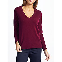 Buy John Lewis Cashmere Dropped Sleeve V-Neck Jumper Online at johnlewis.com