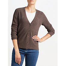 Buy John Lewis Rib Stitch Cardigan, Brown Online at johnlewis.com