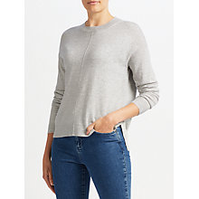 Buy John Lewis High Crew Sweater, Grey Donegal Online at johnlewis.com