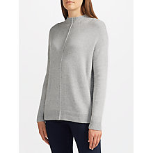 Buy John Lewis Donegal Turtle Neck Jumper, Grey Online at johnlewis.com