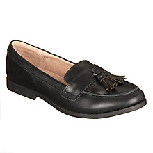 Buy John Lewis Children's Somerset Loafers, Black Online at johnlewis.com
