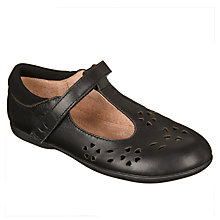 Buy John Lewis Children's Berkshire T-Bar Shoes, Black Online at johnlewis.com