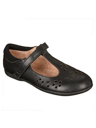 John Lewis Girls Black Ballerina School Shoes Size 10