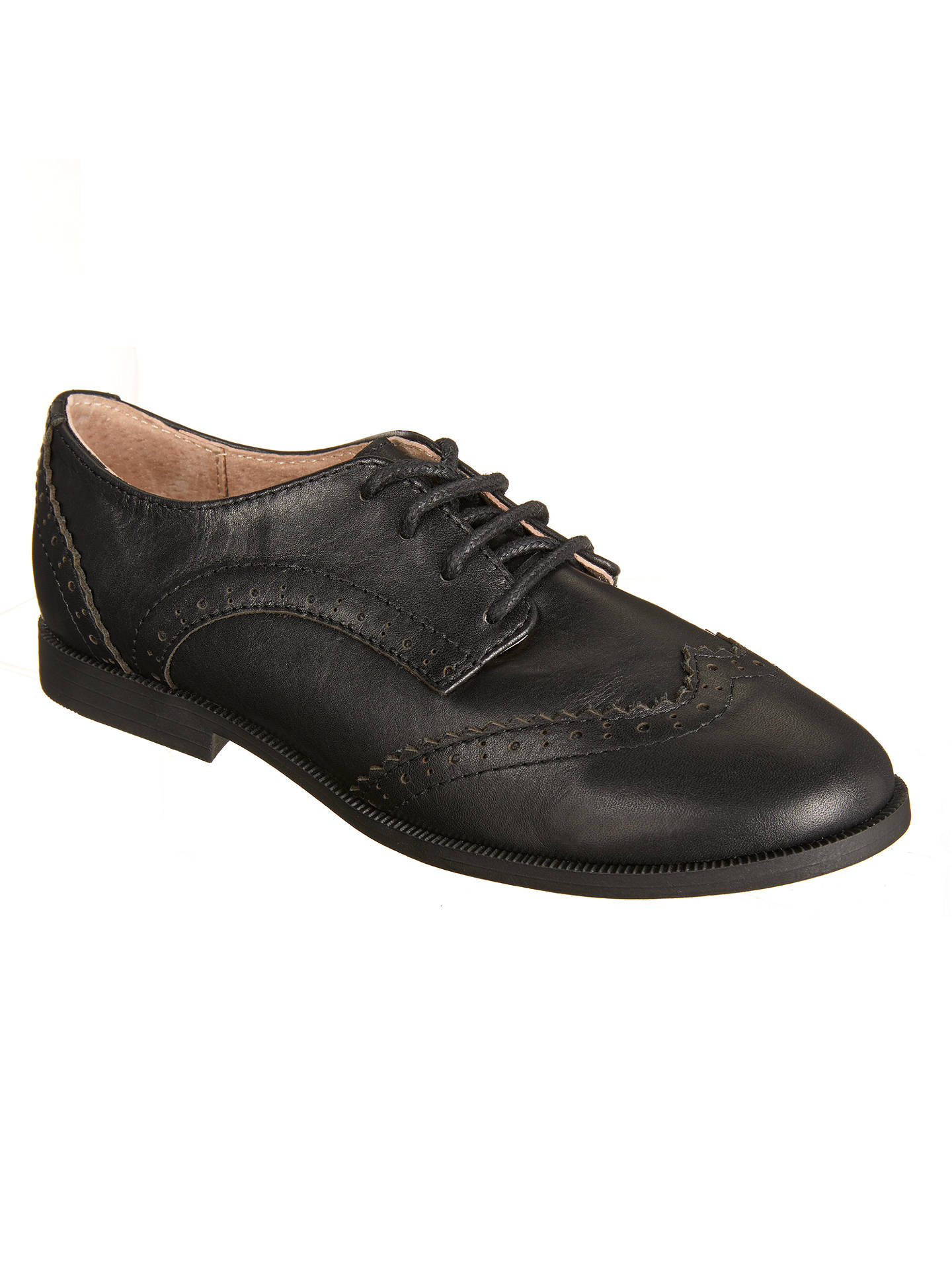BuyJohn Lewis & Partners Children's Dorset Leather Brogue Shoes, Black, 13W Jnr Online at johnlewis.com