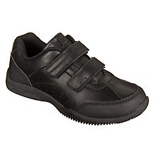 Buy John Lewis Children's Kent Double Rip-Tape Shoes, Black Online at johnlewis.com