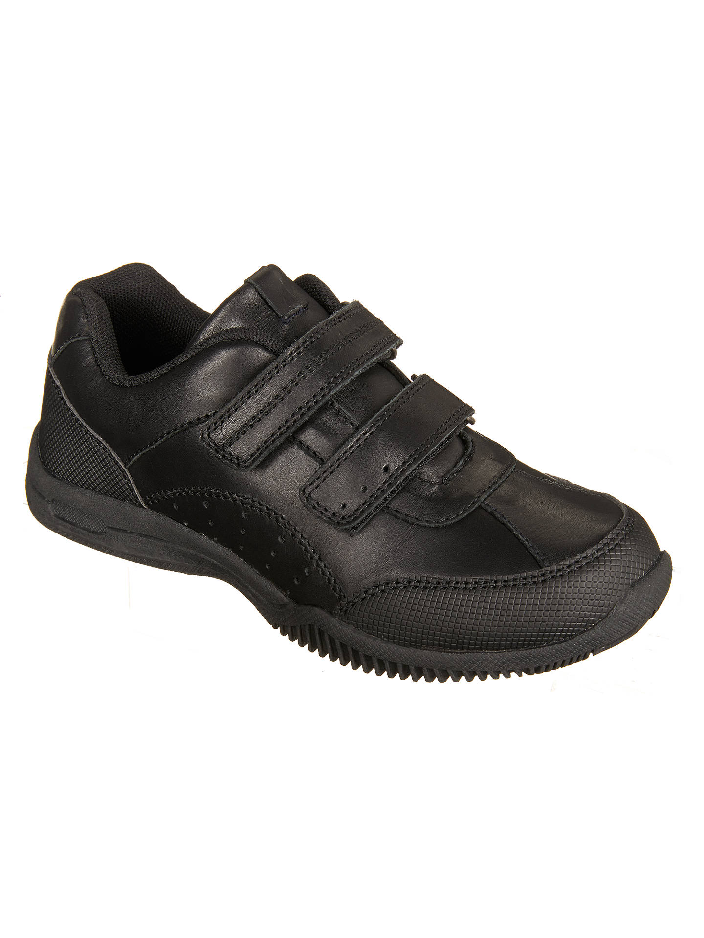 Buy John Lewis & Partners Children's Kent Double Riptape Shoes, Black, 4S Online at johnlewis.com