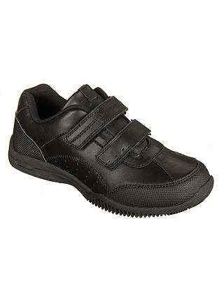 Buy John Lewis & Partners Children's Kent Double Riptape Shoes, Black, 13W Jnr Online at johnlewis.com