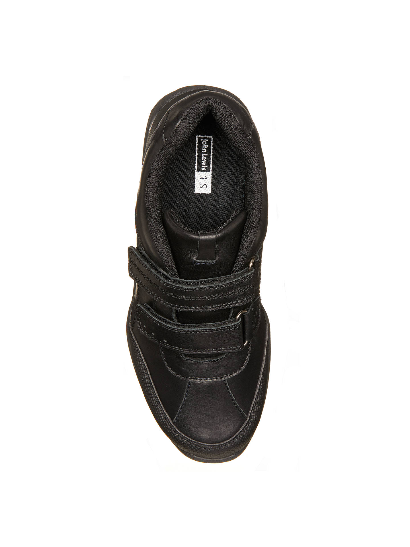 Buy John Lewis & Partners Children's Kent Double Riptape Shoes, Black, 10W Jnr Online at johnlewis.com