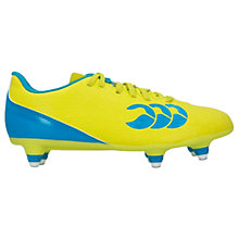 Buy Canterbury of New Zealand Children's Speed 6 Stud Football Boots, Yellow/Blue Online at johnlewis.com