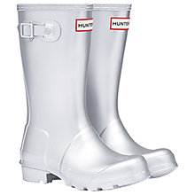 Buy Hunter Children's Original Wellington Boots, Silver Online at johnlewis.com