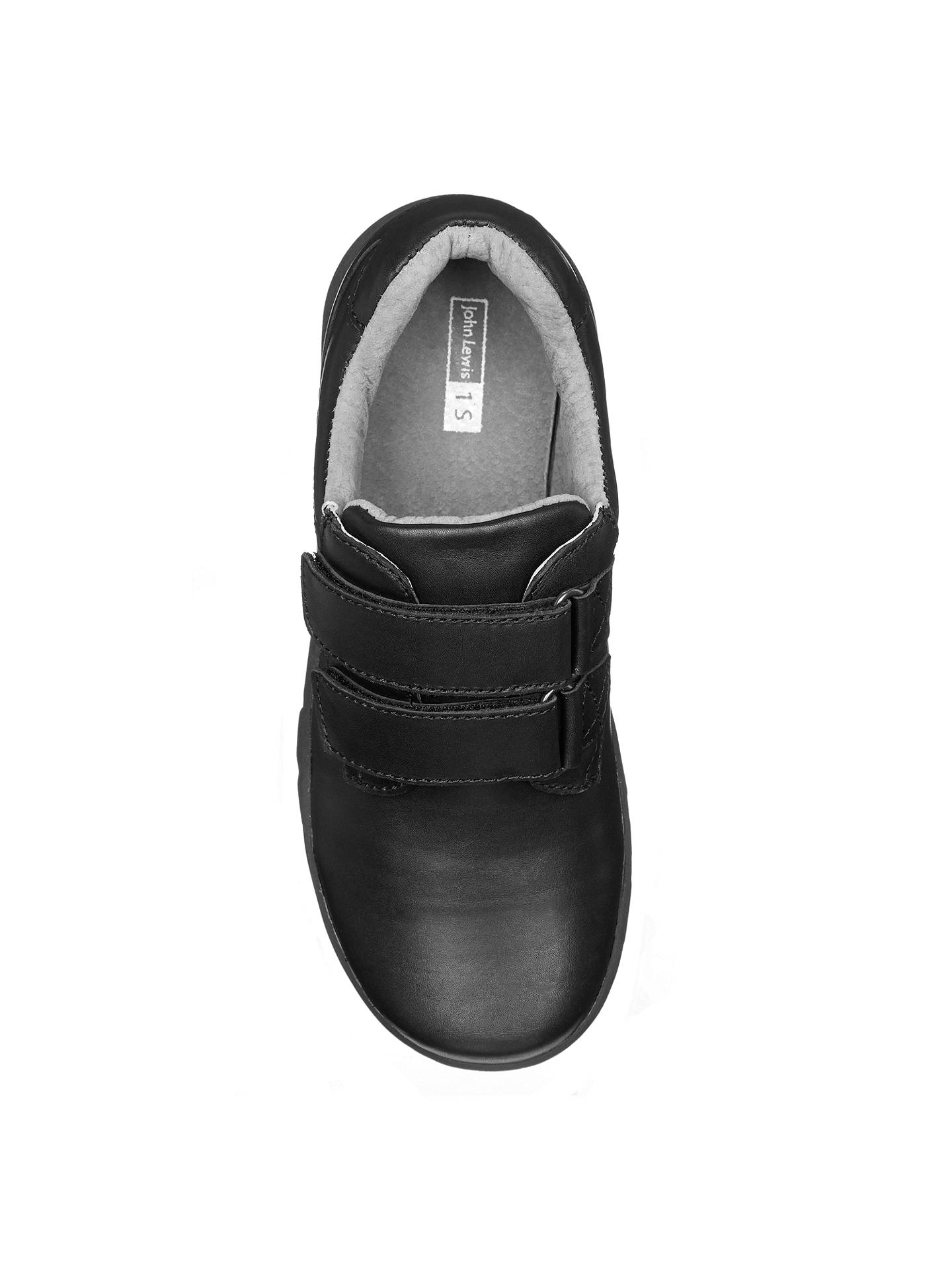 BuyJohn Lewis & Partners Children's Surrey Double Rip-Tape Shoes, Black, 10W Jnr Online at johnlewis.com