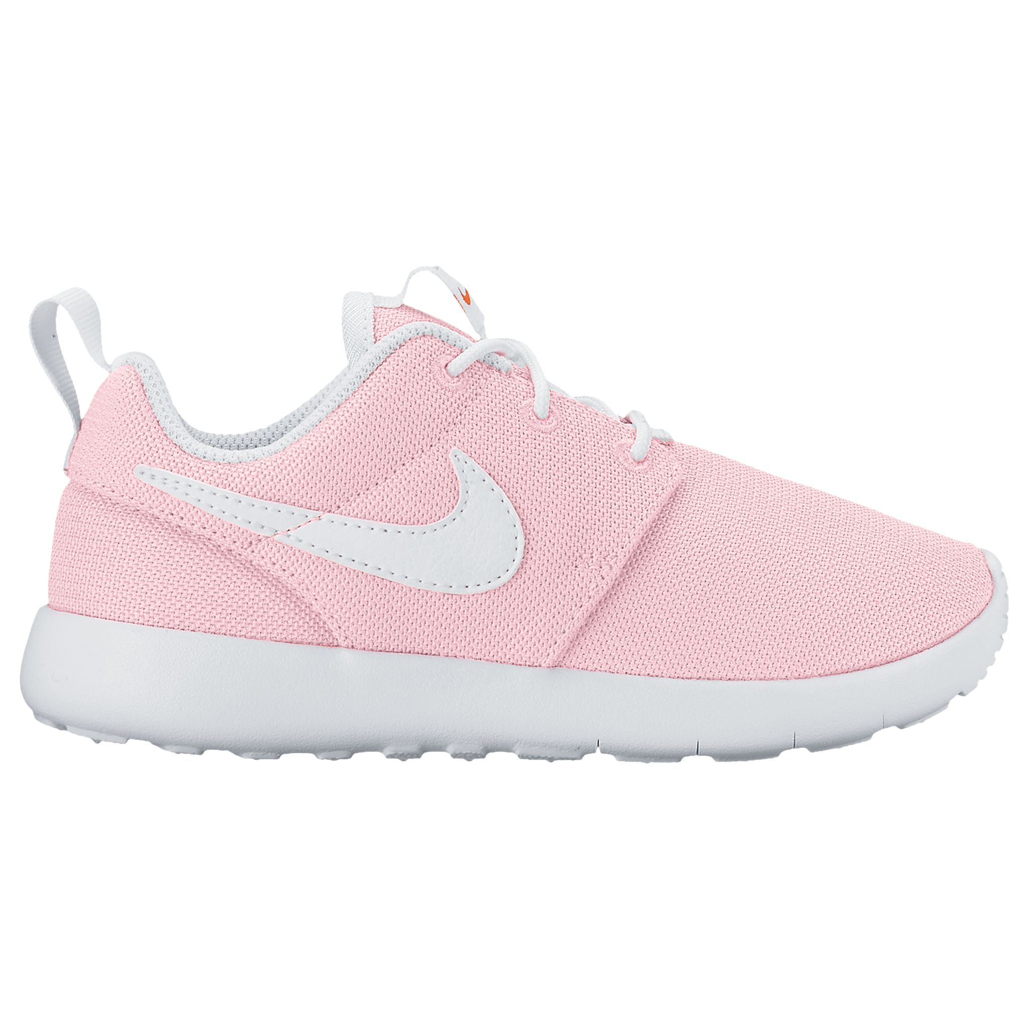 Arqueólogo sombrero Evento  Nike Children's Laced Roshe One Trainers, Light Pink at John Lewis &  Partners