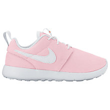 Buy Nike Children's Laced Roshe One Trainers, Pink Online at johnlewis.com