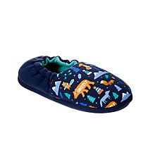 Buy John Lewis Baby Night Hike Slippers, Navy Online at johnlewis.com