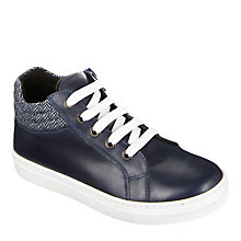 Buy John Lewis Children's Alfie Tweed Shoes, Navy Online at johnlewis.com