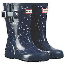 Buy Hunter Children's Constellation Print Wellington Boots, Midnight Online at johnlewis.com