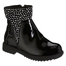 Buy Lelli Kelly Children's Joyce Gems Ankle Boots, Black Patent Online at johnlewis.com
