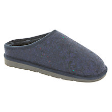 Buy John Lewis Children's Tweed Mule Slippers, Navy Online at johnlewis.com