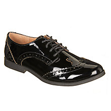 Buy John Lewis Children's Dorset Leather Brogue Shoes, Black Patent Online at johnlewis.com