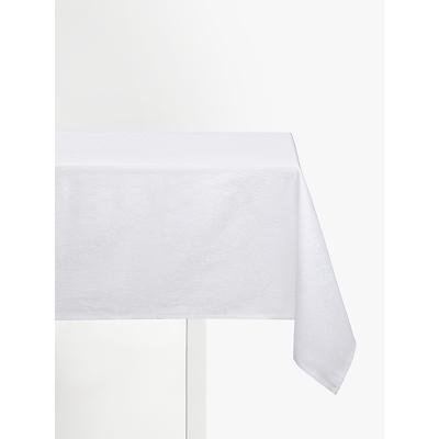 John Lewis Zari Tablecloth, White