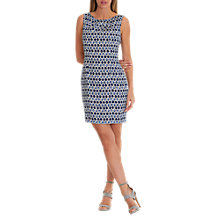 Buy Betty & Co. Printed Shift Dress, Blue/Cream Online at johnlewis.com