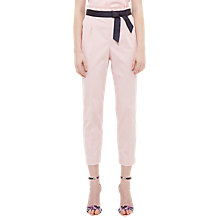Buy Ted Baker Verbo Ruffle Waistline Cotton Blend Trousers Online at johnlewis.com