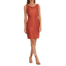 Buy Betty & Co. Satin Shift Dress, Etruscan Red Online at johnlewis.com