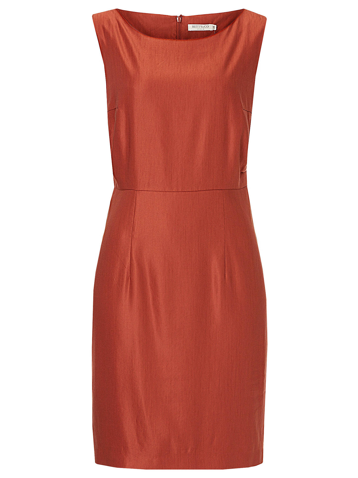 Buy Betty & Co. Satin Shift Dress, Etruscan Red, 10 Online at johnlewis.com