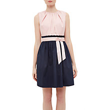 Buy Ted Baker Alyy Waist Tie Dress, Dusky Pink Online at johnlewis.com