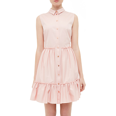 Product photo of Ted baker daikota sleeveless collared dress dusky pink