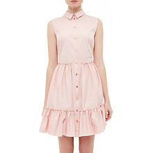 Buy Ted Baker Daikota Sleeveless Collared Dress, Dusky Pink Online at johnlewis.com