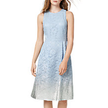 Buy Warehouse Foil Lace Dress, Light Blue Online at johnlewis.com