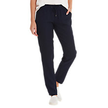 Buy Betty Barclay Sporty Fine Crepe Trousers, Navy Online at johnlewis.com