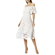 Buy Coast Patience Full Midi Dress, Ivory Online at johnlewis.com