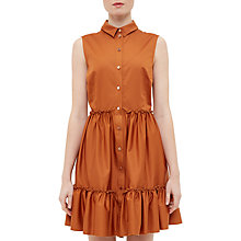 Buy Ted Baker Daikota Sleeveless Collared Dress, Light Brown Online at johnlewis.com