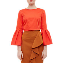Buy Ted Baker Samyia Frilled Bell Sleeve Blouse, Orange Online at johnlewis.com