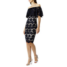 Buy Coast Patience Lace Shift Dress, Navy Online at johnlewis.com