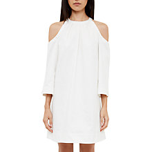 Buy Ted Baker Jamr Cold Shoulder Dress, White Online at johnlewis.com