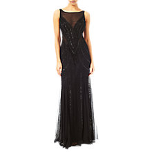 Buy Adrianna Papell Sleeveless Beaded Mermaid Gown, Black Online at johnlewis.com