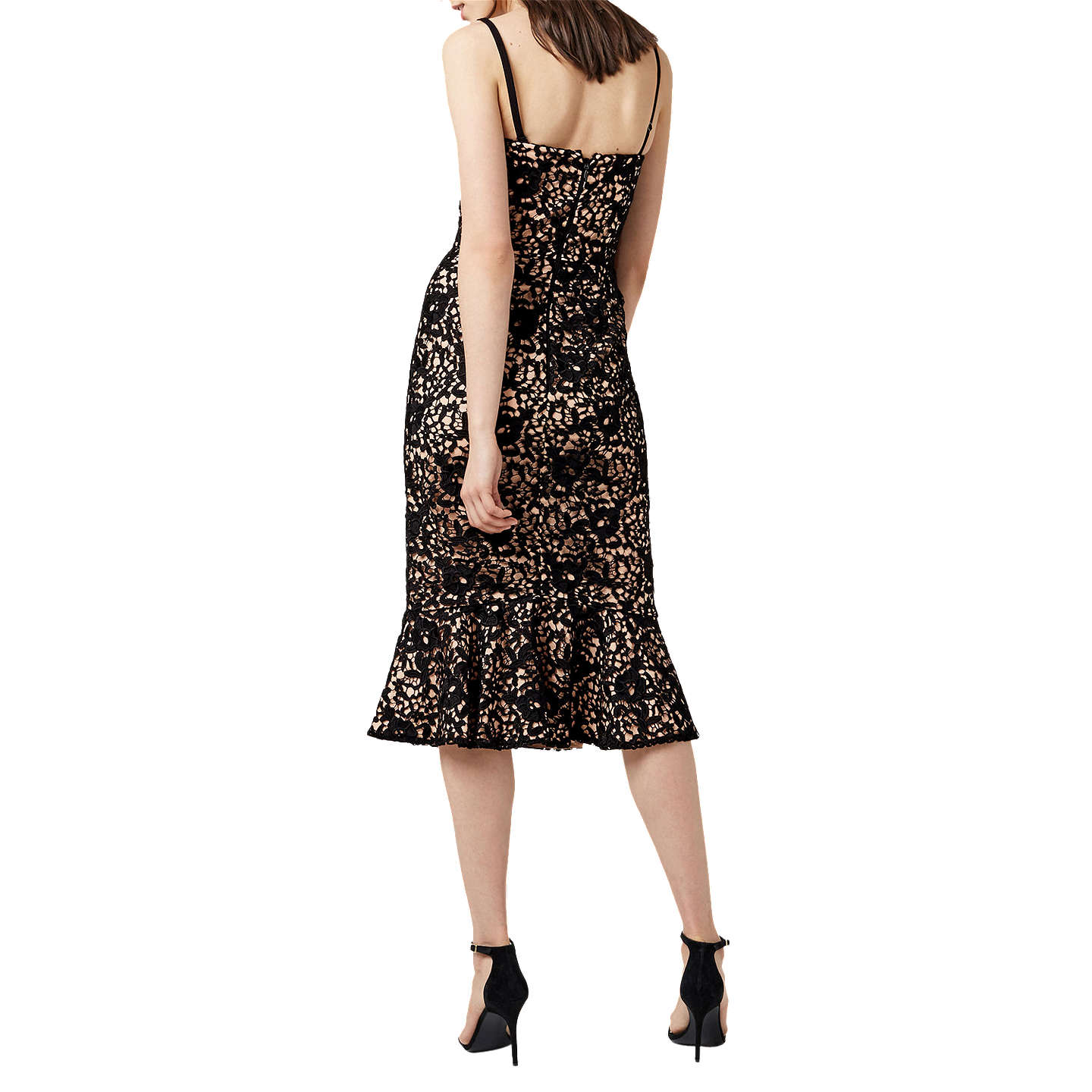 BuyWarehouse Strapless Premium Lace Dress, Black, 6 Online at johnlewis.com