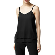 Buy Warehouse Double Layer Cami, Black Online at johnlewis.com
