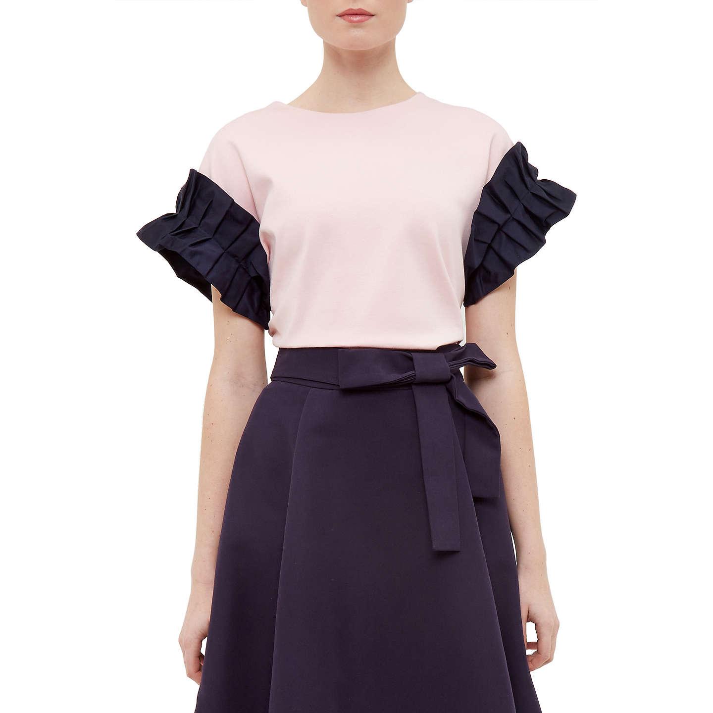 Ruffle Long Sleeve Cotton Dress Ted Baker aUsVbm1